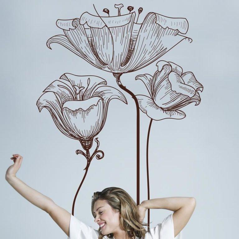 Ambadecor | Vinilos | Fotomurales | Vinilo floral Modelo 17-Vinilo monomérico autoadhesivo