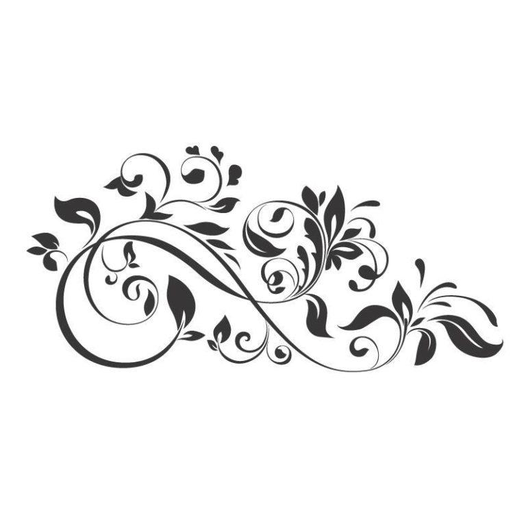 Ambadecor | Vinilos | Fotomurales | Vinilo floral Modelo 2-Vinilo monomérico autoadhesivo