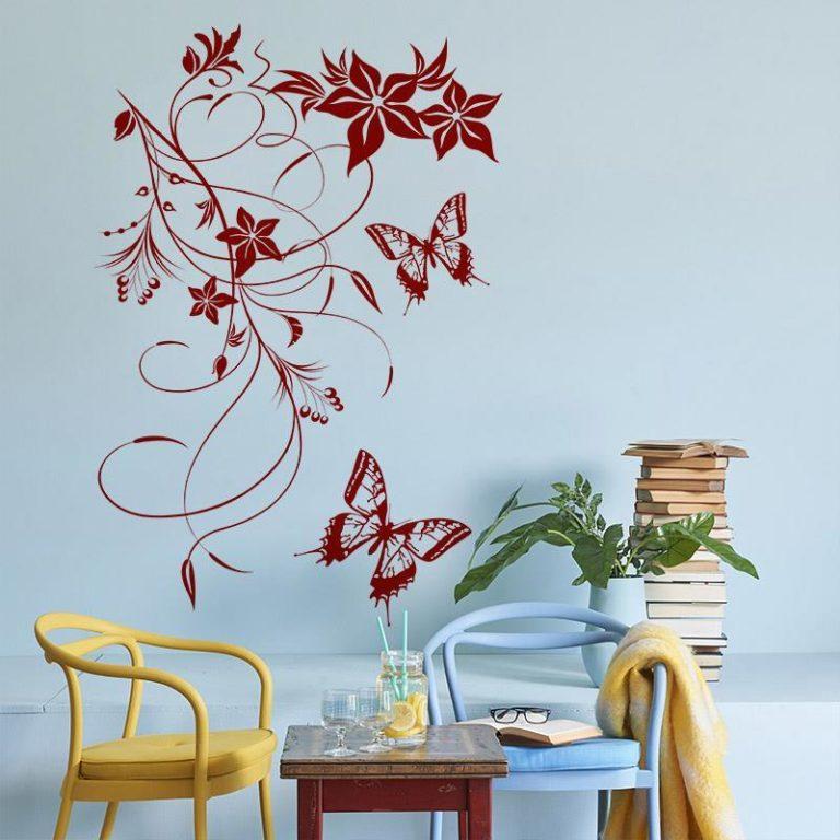 Ambadecor | Vinilos | Fotomurales | Vinilo floral Modelo 28-Vinilo monomérico autoadhesivo