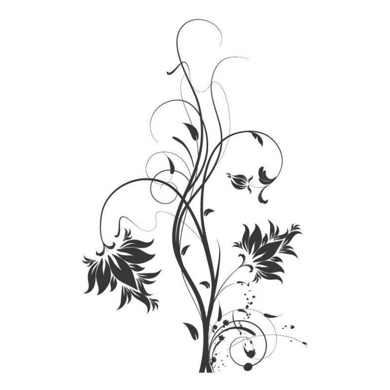Ambadecor | Vinilos | Fotomurales | Vinilo floral Modelo 31-Vinilo monomérico autoadhesivo