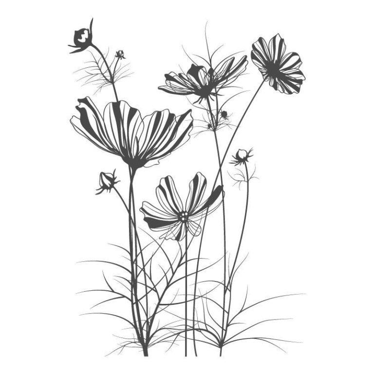 Ambadecor | Vinilos | Fotomurales | Vinilo floral Modelo 34-Vinilo monomérico autoadhesivo