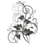 Vinilo floral Modelo 4