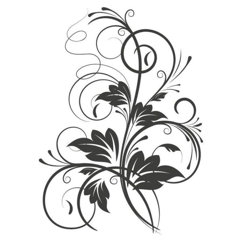 Ambadecor | Vinilos | Fotomurales | Vinilo floral Modelo 4-Vinilo monomérico autoadhesivo