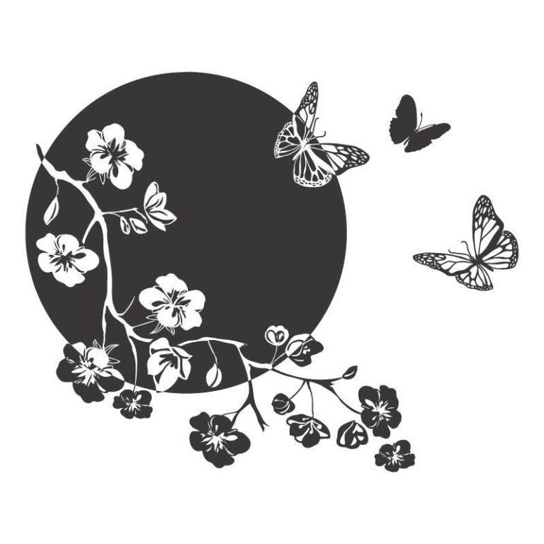 Ambadecor | Vinilos | Fotomurales | Vinilo floral Modelo 46-Vinilo monomérico autoadhesivo