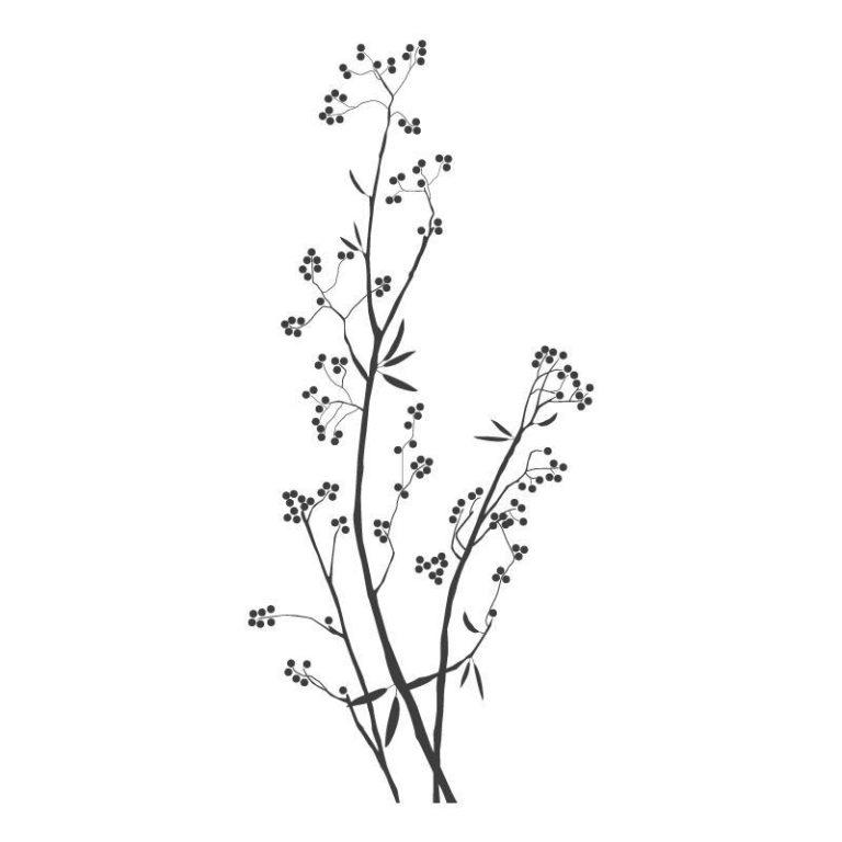 Ambadecor | Vinilos | Fotomurales | Vinilo floral Modelo 5-Vinilo monomérico autoadhesivo