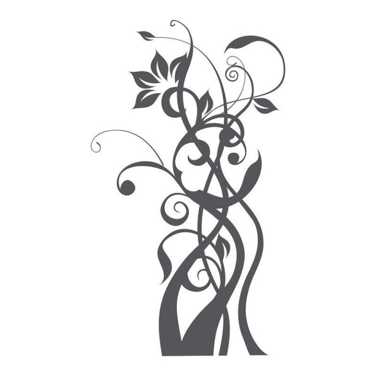 Ambadecor | Vinilos | Fotomurales | Vinilo floral Modelo 65-Vinilo monomérico autoadhesivo
